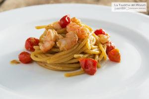 la taverna del mozzo spaghetto e gamberi